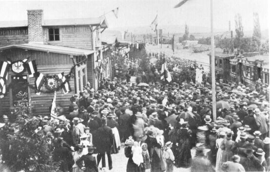 Eröffnung des Bahnhofs Blomberg 1897