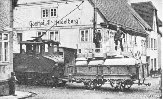 Güterverkehr mit der Straßenbahn, Betreiber: PESAG, Betrieb auf der Strecke Blomberg-Bad Meinberg 1926-36
