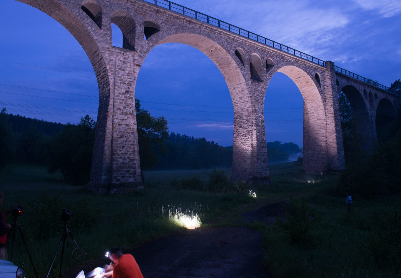 Selbacher Viadukt am Abend